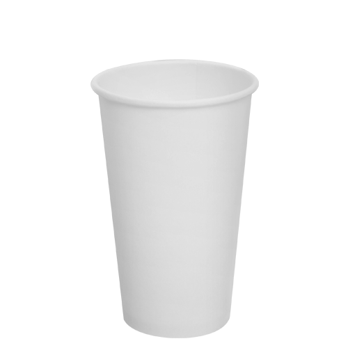 16oz Paper Hot Cups - White (90mm) - 1,000 ct