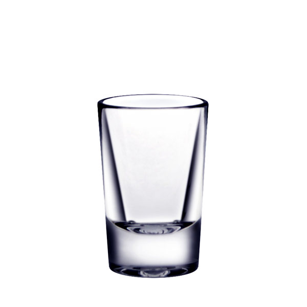 1 OZ SHOT GLASS HEAVY BASE POLYCARBONATE CLEAR 24/ct