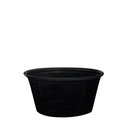 3.25oz Portion Cups PP - Black - 2,500 ct