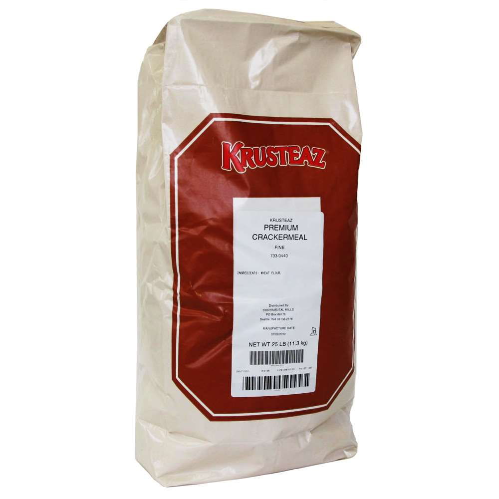 Krusteaz Premium Fine Cracker Meal 25 Pound Bag