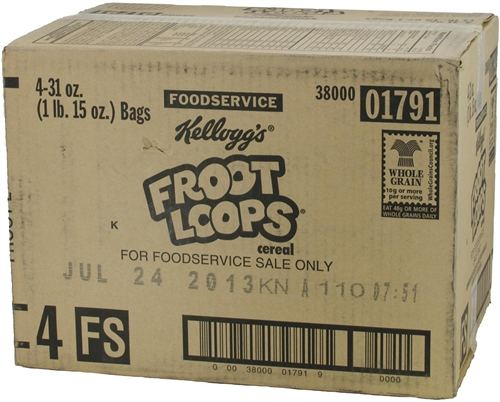 Kellogg's Froot Loops Cereal 31 oz./4 ct. Bulk Pack Cereal