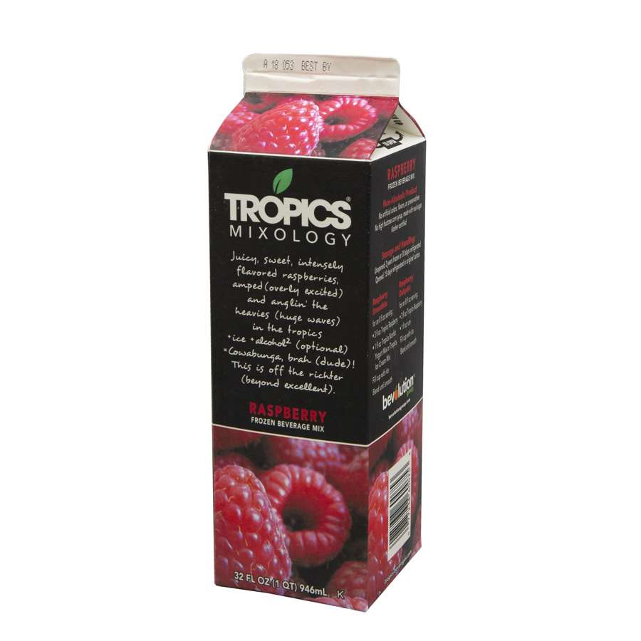 Tropics Raspberry Drink Mix 1 Liter per Bottle - 12 per Case