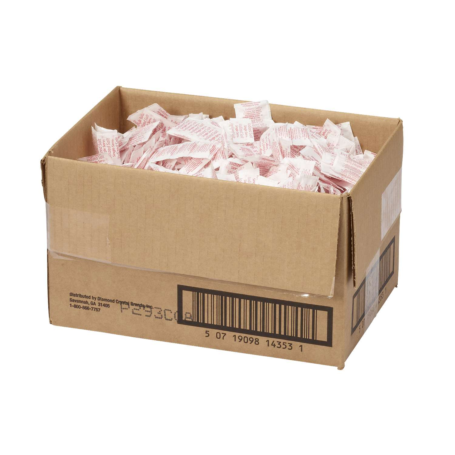 Salt Packets .6 Gram Packet 3000 Packets per Case