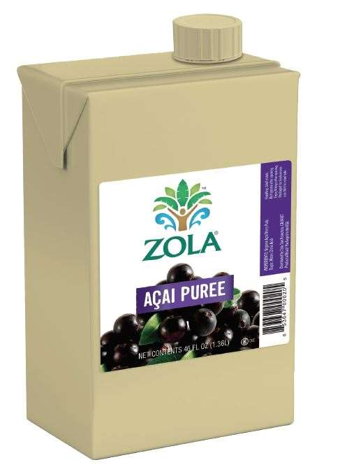 Zola Acai Puree 46 Fluid Ounce - 6 per Case