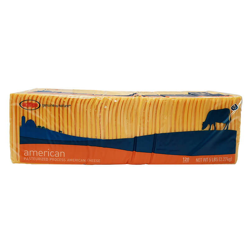 AMERICAN CHEESE YELLOW RIBBON SLICE 120 5LB