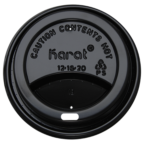 Sipper Dome Lids 10-24oz  - Black (90mm) - 1,000 ct