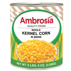 Corn Whole Kernel #10 Can