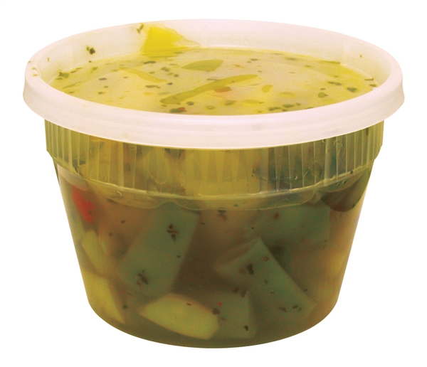 Deli Container Clear w/ Lid 16oz 250/cs