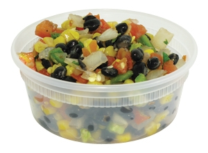 Deli Container Clear w/ Lid 8oz 250/cs