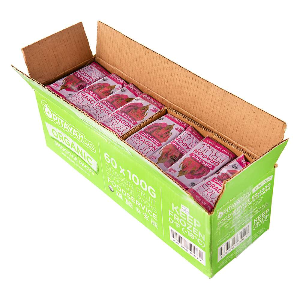 ORGANIC DRAGONFRUIT SMOOTHIE PACK FOODSERVICE 60-3.55 OUNCE