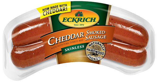 Eckrich Skinless Cheddar Smoked Sausage 18/13oz