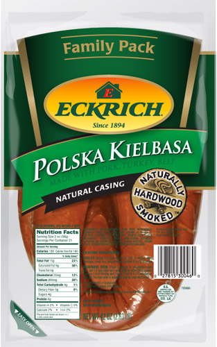 Eckrich Family Pack Polish Smoked Sausage 8/42oz