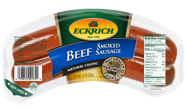 Eckrich : Eckrich Beef Smoked Sausage 15/13oz