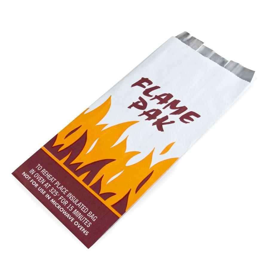 Insulated Foil Flame Bag 5.25x3.5x12 1000/ct