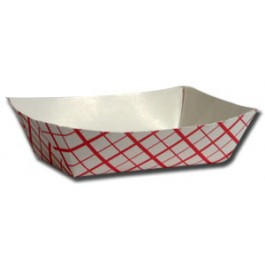 FOOD TRAY #200 2lb RED/WHITE 1M/ct