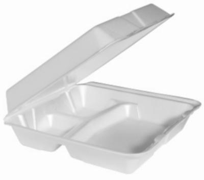 Disposable Plates : Genpak 9x9x3 Foam Hinged Container, 3 ...