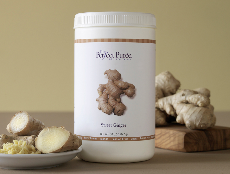 The Perfect Puree Sweet Ginger Puree 38 Ounce Jars - 6 per Case