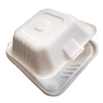 PRIMEWARE HINGED CONTAINER MOLDED FIBER 6X6X3 4/125ct