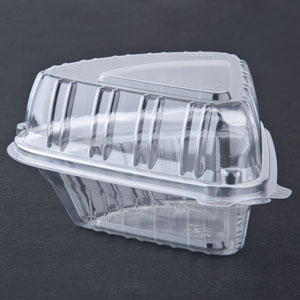 Pie Wedge Clear Hinged Lid Container 500/cs