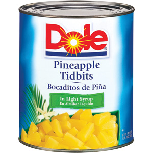 Pineapple Tidbits In Natural Juice 6/#10 Can
