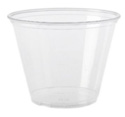 9oz Plastic Clear P.E.T. Squat Cup 1M/CT