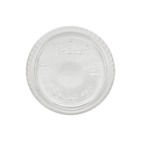 KARAT 2oz PET Portion Cup Lids - 2,500 ct (fits black portion cup 2oz)