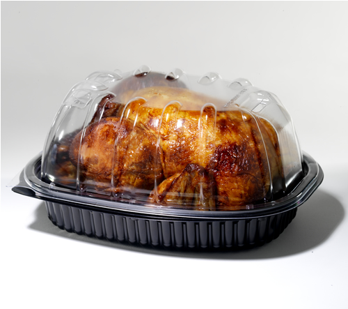 Rotisserie Chicken Container High Combo 100/cs