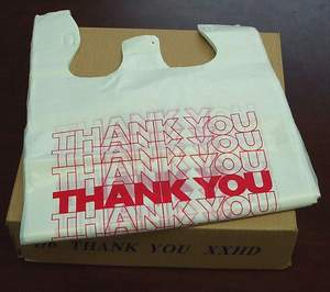 T-Shirt Thank You Bag 10x5x18 2000/cs